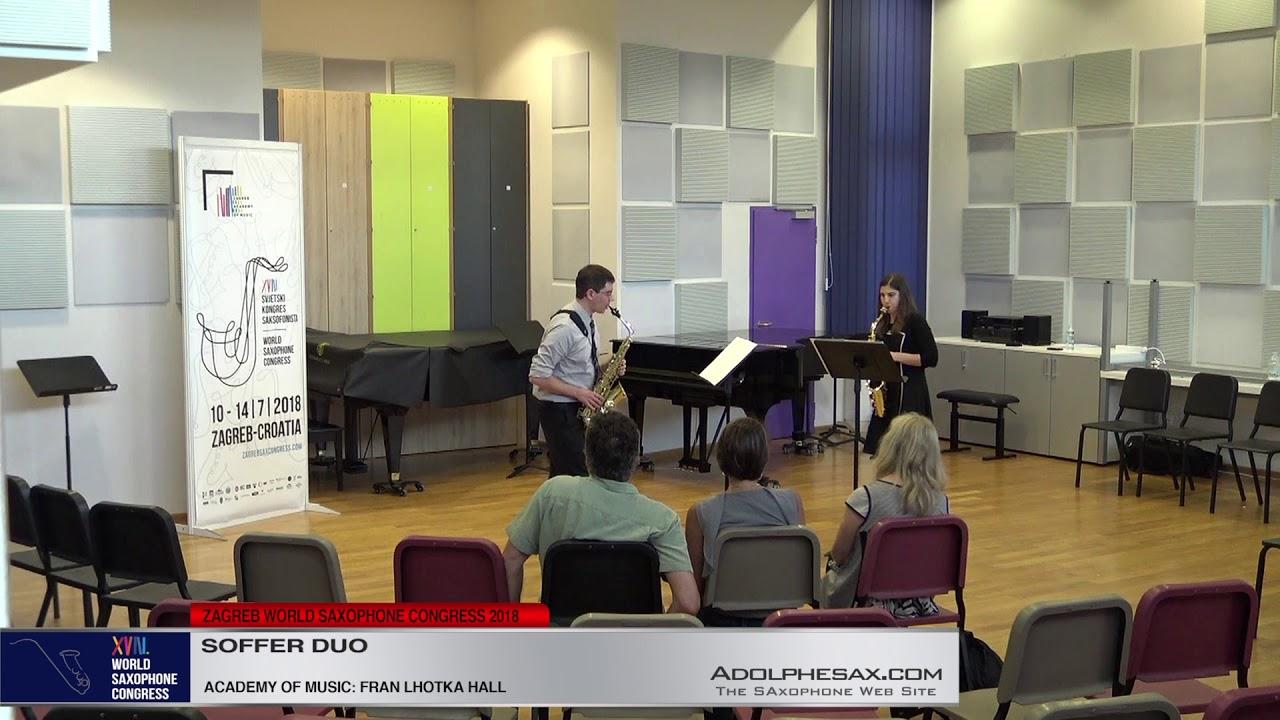 Tachycardia by Marc Mellits   Soffer Duo   XVIII World Sax Congress 2018 #adolphesax