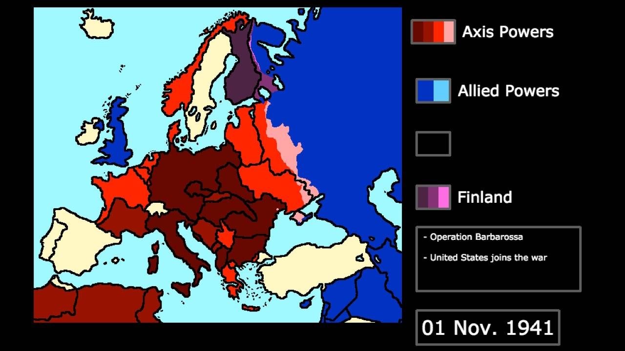World War Ii In Europe 1939 1945 Every Month Youtube