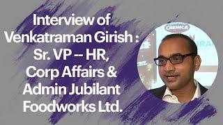 Interview of Venkatraman Girish   Sr  VP