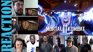 Mortal Kombat 11 - Official Launch Trailer REACTIONS MASHUP