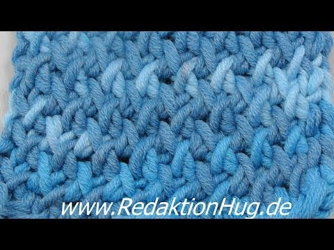 Stricken - Zick-Zack-Flechtmuster - YouTube