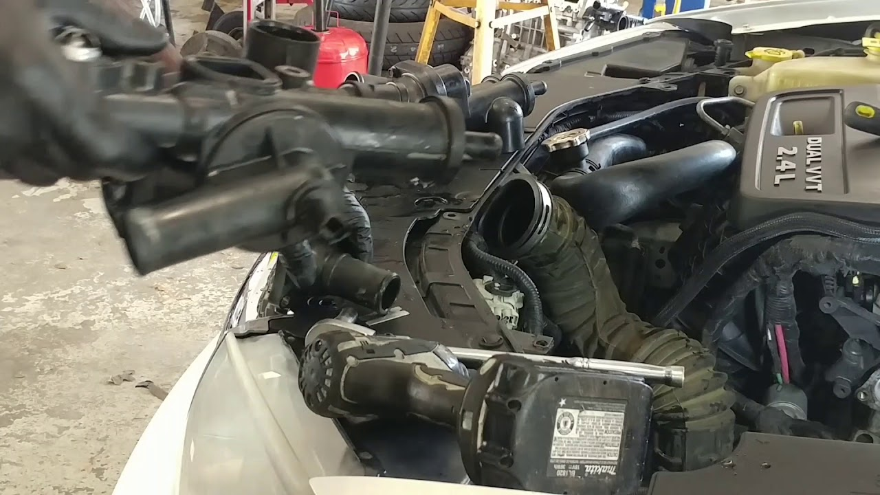 hight resolution of chrysler 200 and avenger thermostat replacement