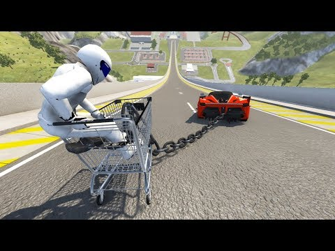 High Speed Crazy Jumps/Crashes BeamNG Drive Compilation #7 (Car Shredding Experiment)