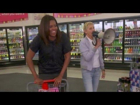 Michelle Obama and Ellen DeGeneres shop at CVS