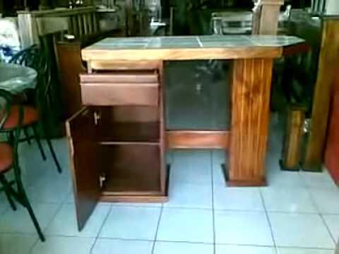 Desayunador de madera youtube for Barras para bar rusticas