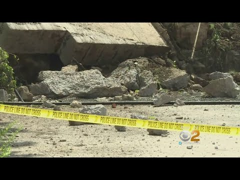 Massive Retaining Wall Collapses In Ossining