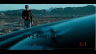 sting desert rose, lyrics