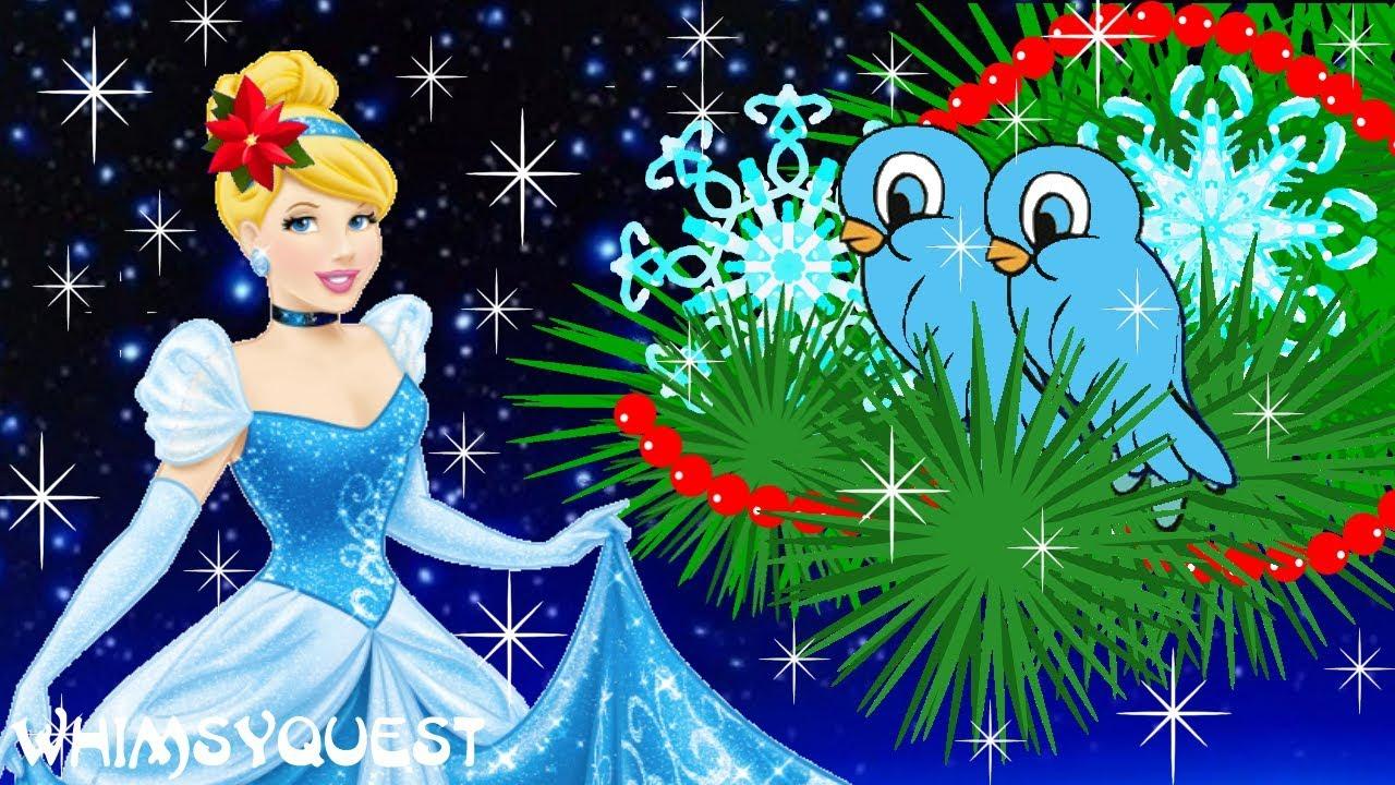 Cinderella Christmas.Whimsyquest Disney Cinderella Christmas Animated Music Video