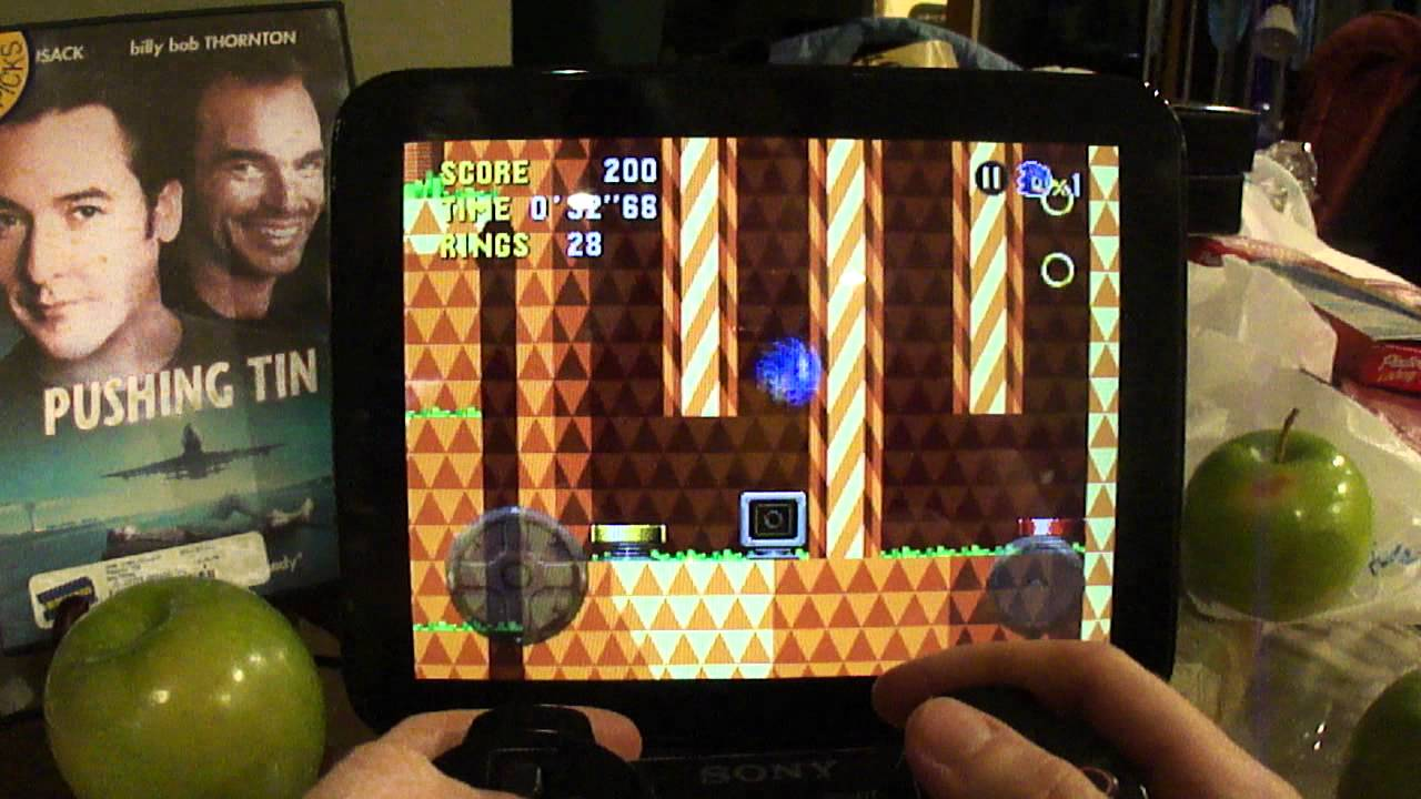 Playing Sonic CD and Age of ZOMBIES with Sixaxis ...