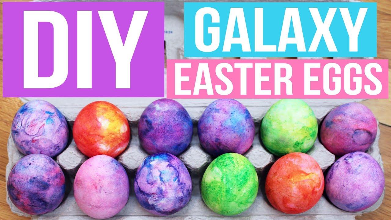 DIY SHAVING CREAM GALAXY EASTER EGGS  PINTEREST INSPIRED  YouTube