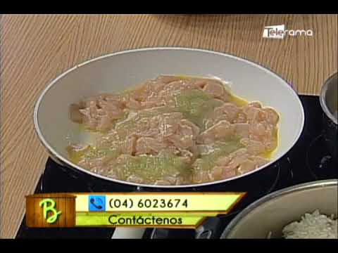 Arroz tropical con camarones