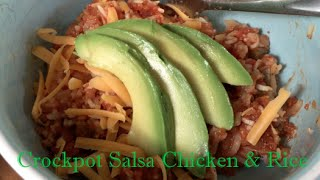 Crockpot Salsa Chicken & Rice