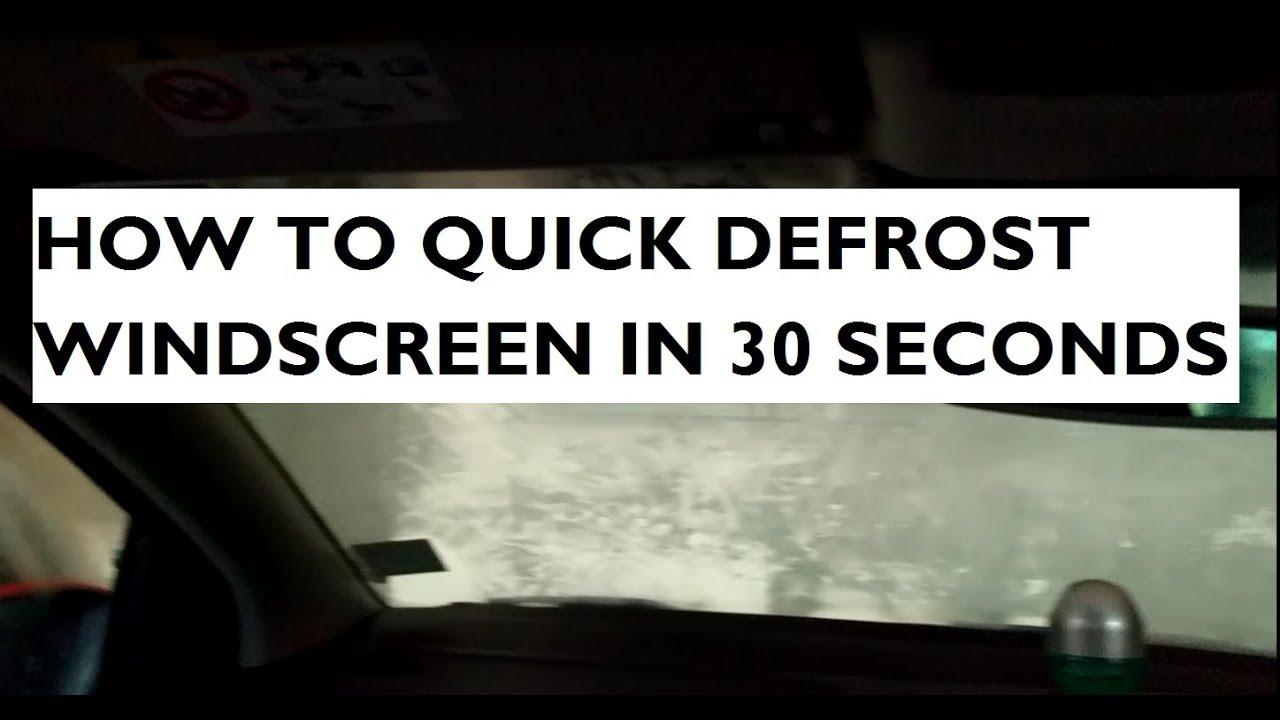 how to defrost / defog windscreen in 30 seconds - volkswagen polo