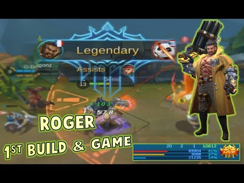 Mobile Legends 20-2-1 KDA ROGER GAMEPLAY + BUILD ! HE IS A BEAST !