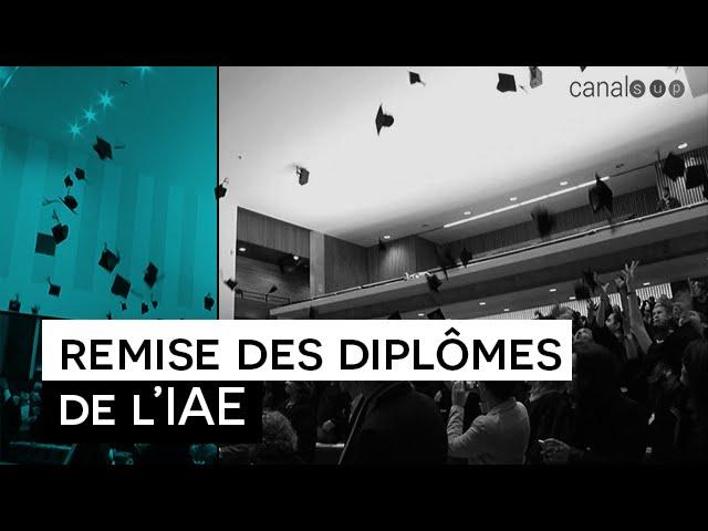 Les Reporters sans manières : Remise des diplômes de l'IAE