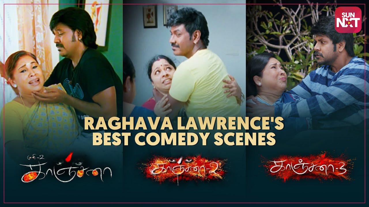 Raghava Lawrence's Best comedy scenes   Kanchana 1, 2 & 3   Full Movie on SUN NXT