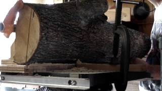 Resawing A Pearwood Log