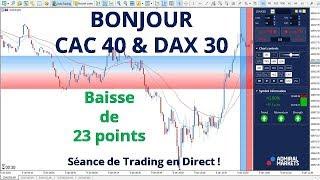 #DAX30 CFD - Séance de Trading en Direct - Bonjour CAC40 & DAX30 le 09/01