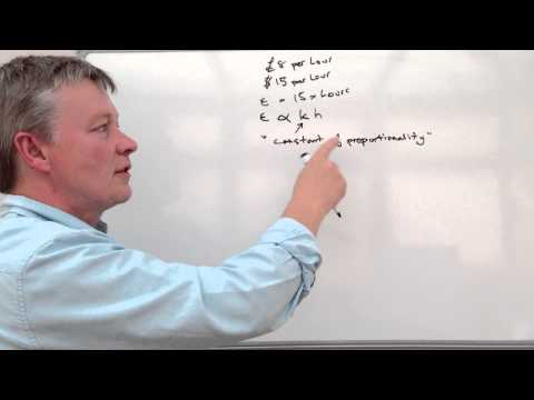 How to calculate direct proportion