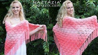 Crochet Beachy Keen Shawl - DIY Tutorial (It's Peachy Keen too!)