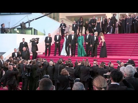 Rachel Weisz, Harvey Keitel, Michael Caine and more going down the red carpet of Youth in Cannes