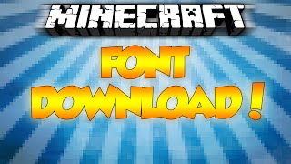 How to download the Minecraft Font! - Minecraft Font for Windows, photoshop, GIMP, word, paint etc