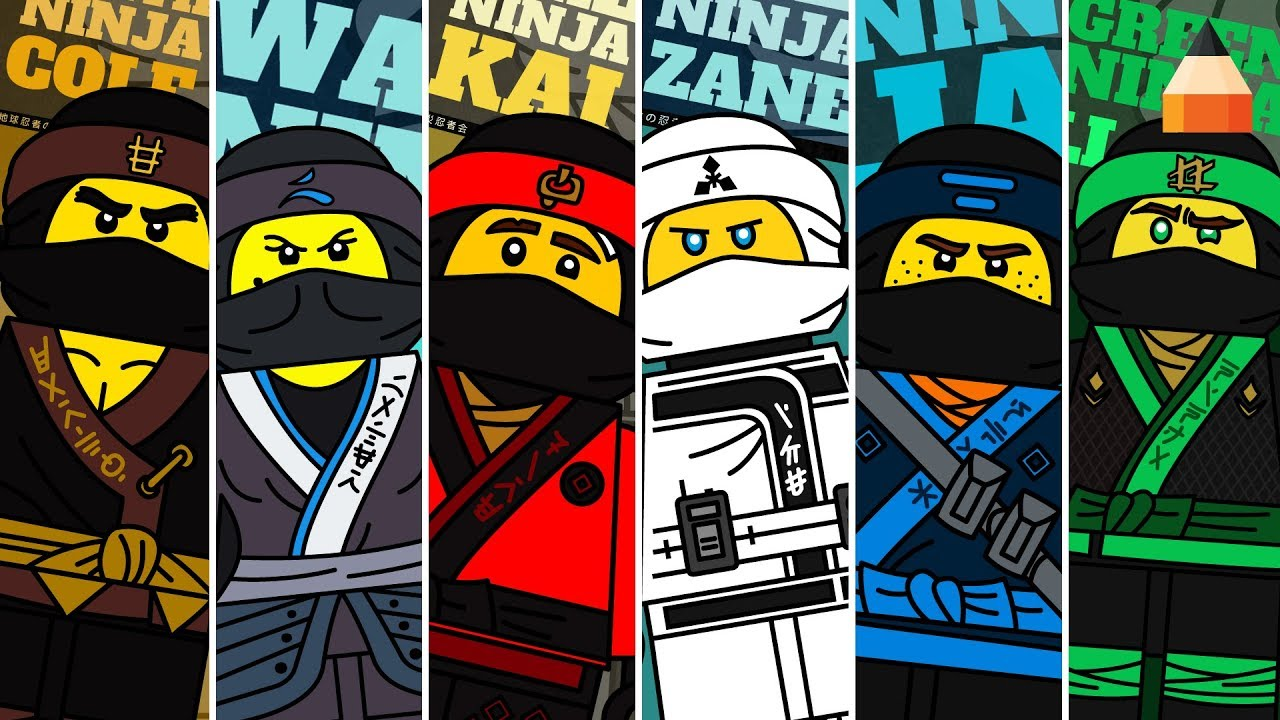Draw Lego Ninjago Characters | Lego Coloring Pages | Ninja Coloring Pages