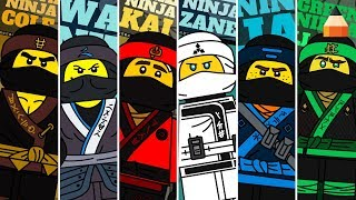 Draw Lego Ninjago Characters | Lego Coloring Pages