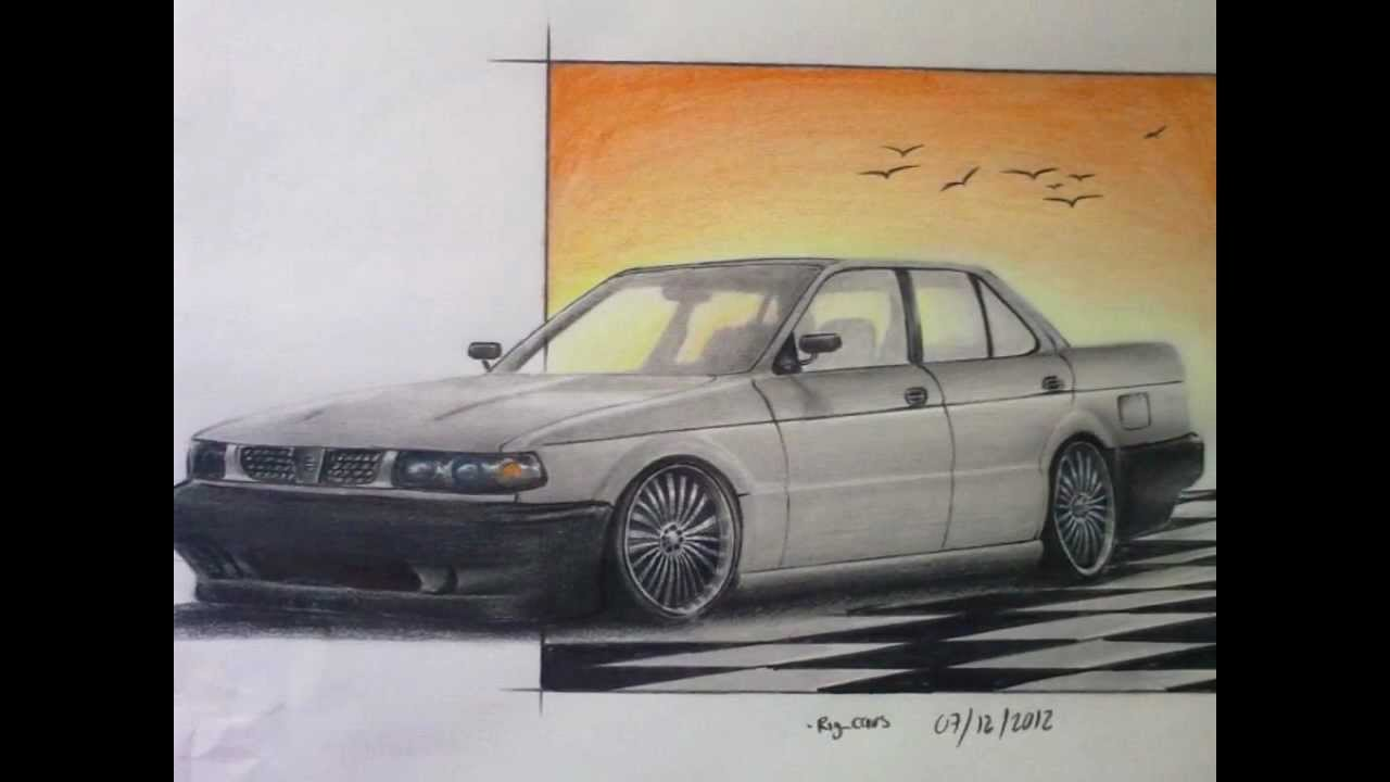 Nissan Tsuru Drawing Youtube
