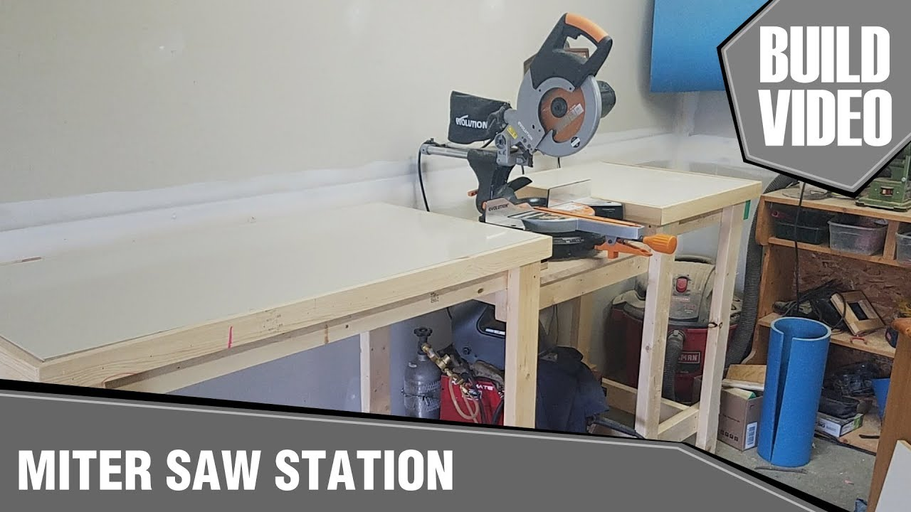 Simple Miter Saw Bench Youtube