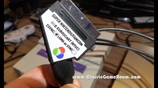 Classic Game Room - RETRO GAMING CABLES SCART for SNES and Super Famicom review
