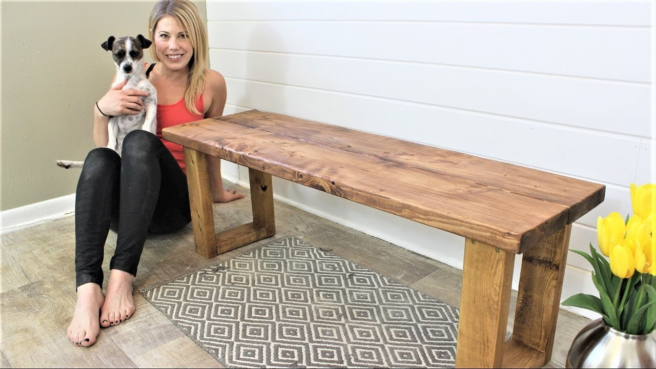 Diy Indoor Bench Seat The 15 Fifteen Minute Bench Easy Diy Project