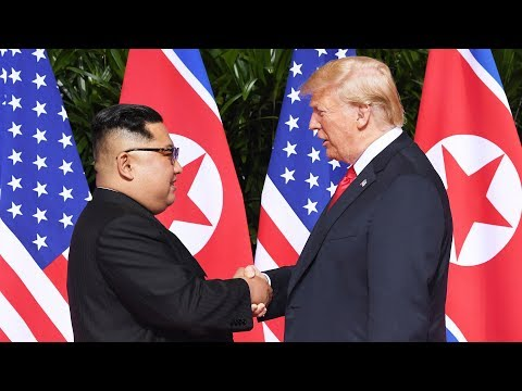Trump and Kim meet in Singapore