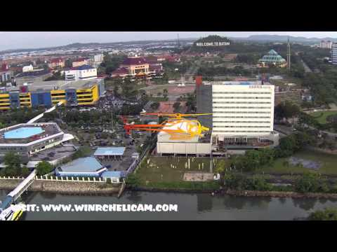 Batam Island looks from sky taken by RC Hobby Helicam Batam