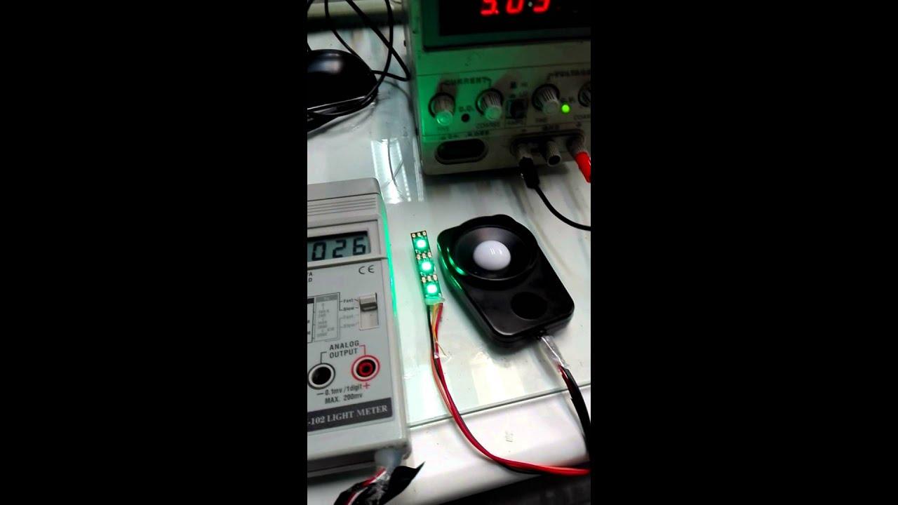 WS2812B led lumens comparison