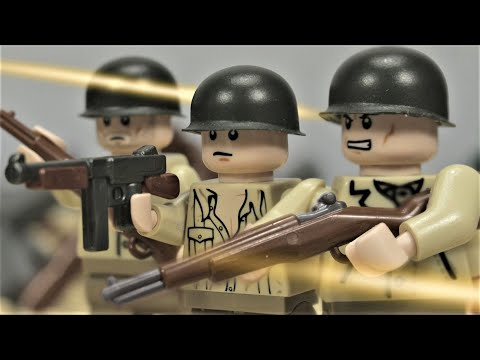 Lego D-Day - The Battle For Omaha Beach - WW2 stop motion