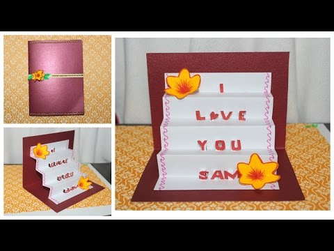 DIY  Pop up Staircase Greeting Card with pop up Letters | Craftosphere Ep.4 | Saminspire