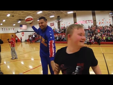 18-Year-Old with Down Syndrome Makes Half-Court Shot Again