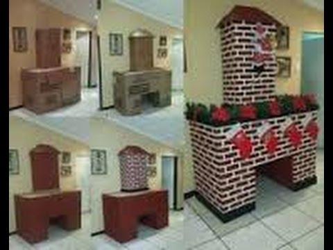 18 chimeneas de carton para navidad/ diy/ facil hazlo tu mismo ...