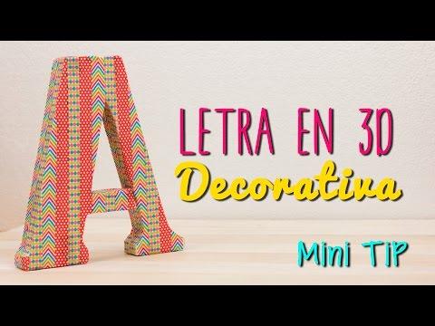 Decora tu cuarto - Letras 3D para decorar tu habitación -  Mini Tip#56