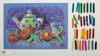 """Курс рисования """"Сухая пастель"""" Начинающие. Урок 4-1. Чайный натюрморт."""