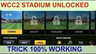 How To Unlocked All Stadium In Wcc2 !