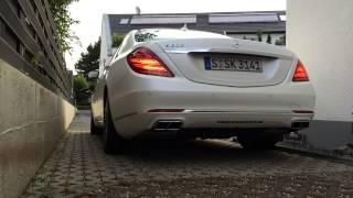 Mercedes-Benz S-Class 2014 S600 V12 engine cold start (Kaltstart) AMG