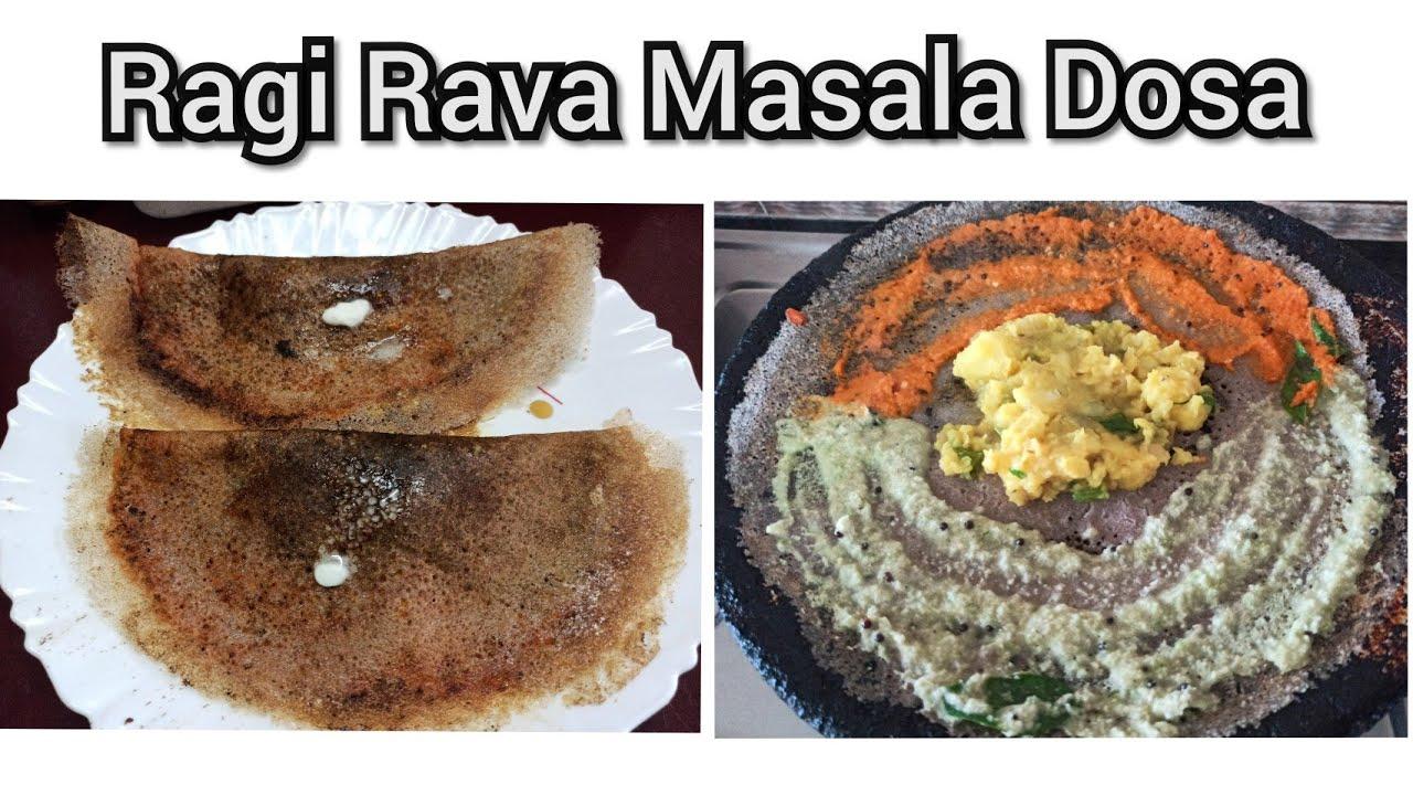 Ragi Rava Masala Dosa | New recipe | Weekend Spl - Anitha ...
