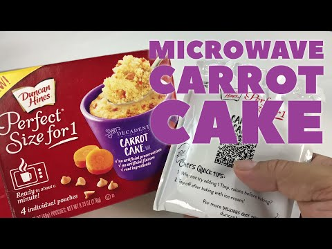 Bake Carrot Cake In Your Microwave With Duncan Hines Perfect Size Mix Review