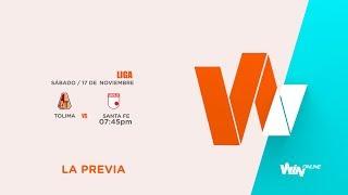Tolima vs Santa Fe (La Previa - En vivo) | Liga Aguila 2018 II - Cuartos de Final Vuelta