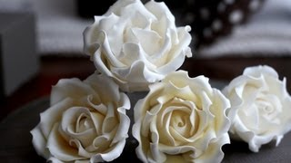 sugar gumpaste rose tutorial