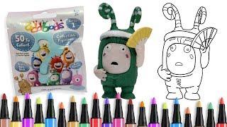 Belajar menggambar Blind Bags Oddbods Zee - Drawing & Coloring for Kids