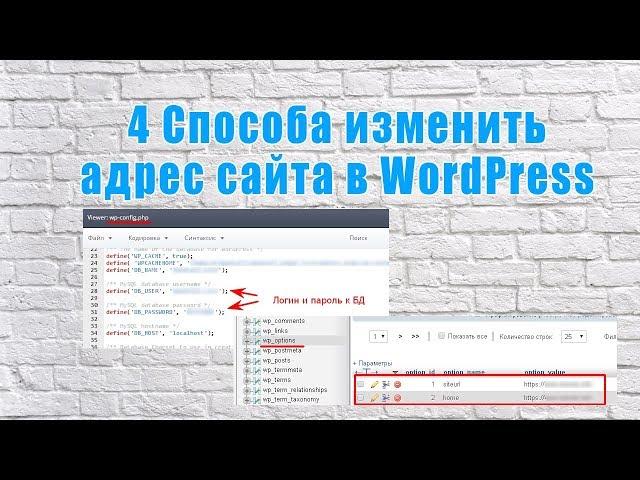 Как изменить адрес сайта в WordPress   4 способа