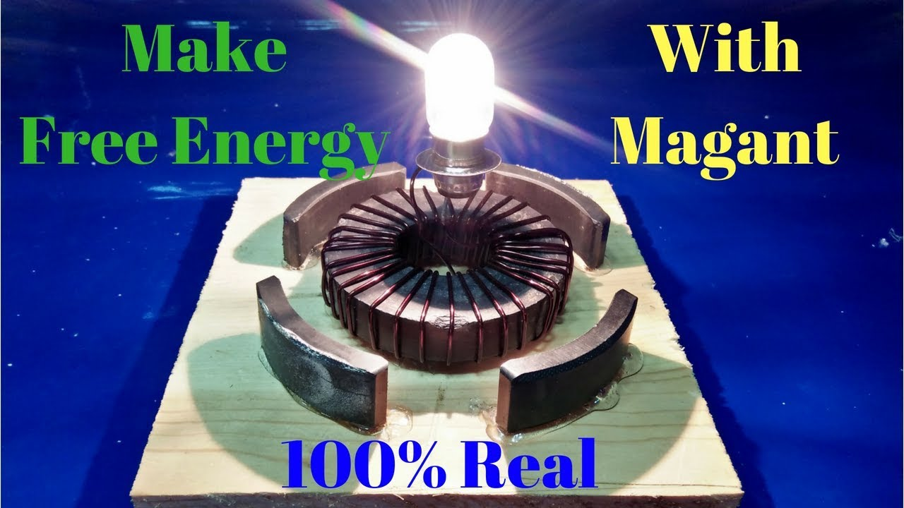 how to make energy with magnets and copper wire 100% Real Free ...